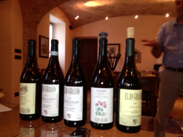 The wines we tasted at Elio Grasso