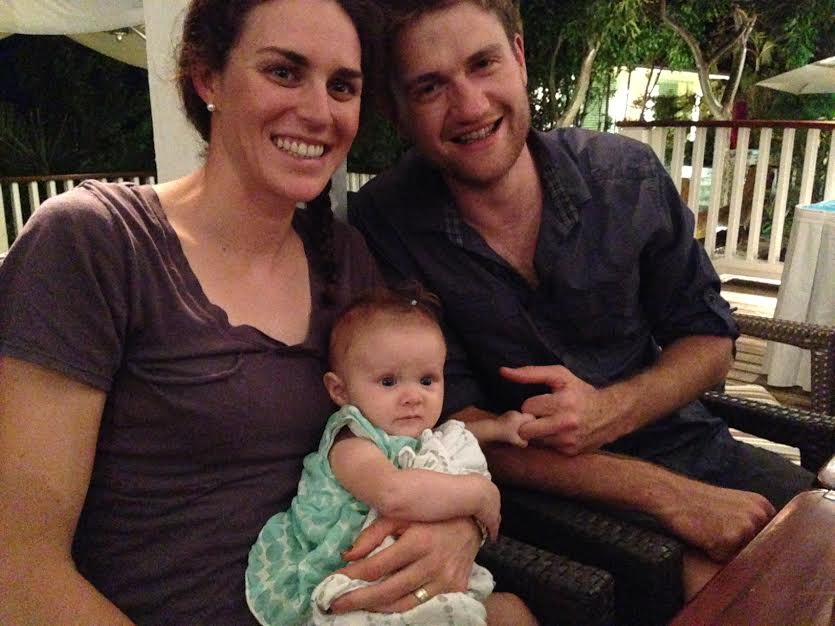 Patrick and I stole Wynne McKenzie - she's such a cutie, and a good baby!