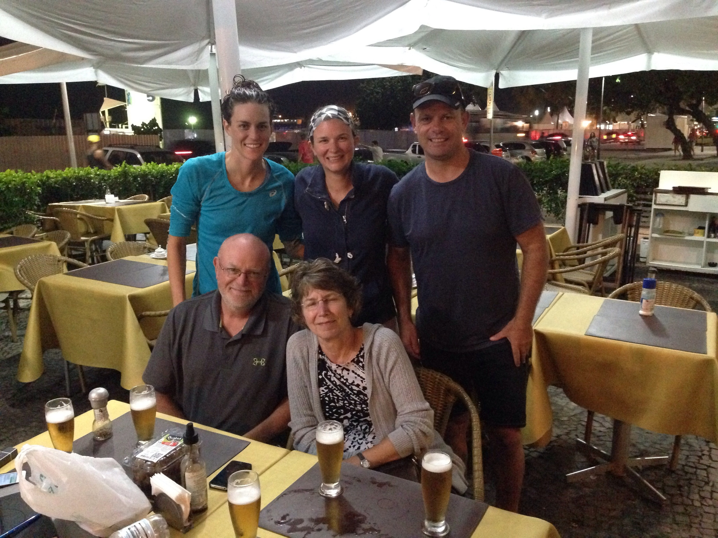 My family and Jamie pre race in Rio