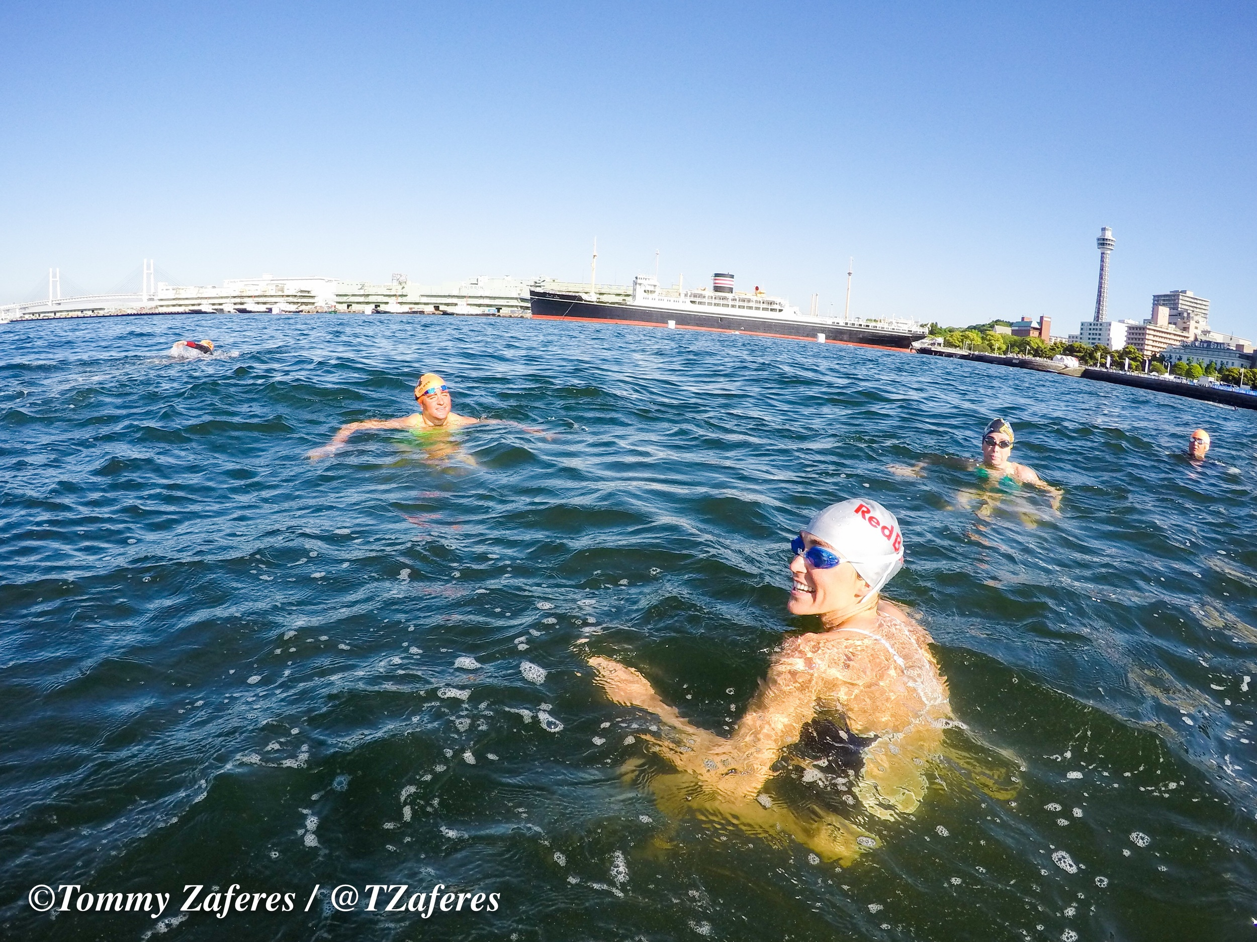 Pre race swim with the Gong Wizards. Photo thanks to Tommy Zaferes.