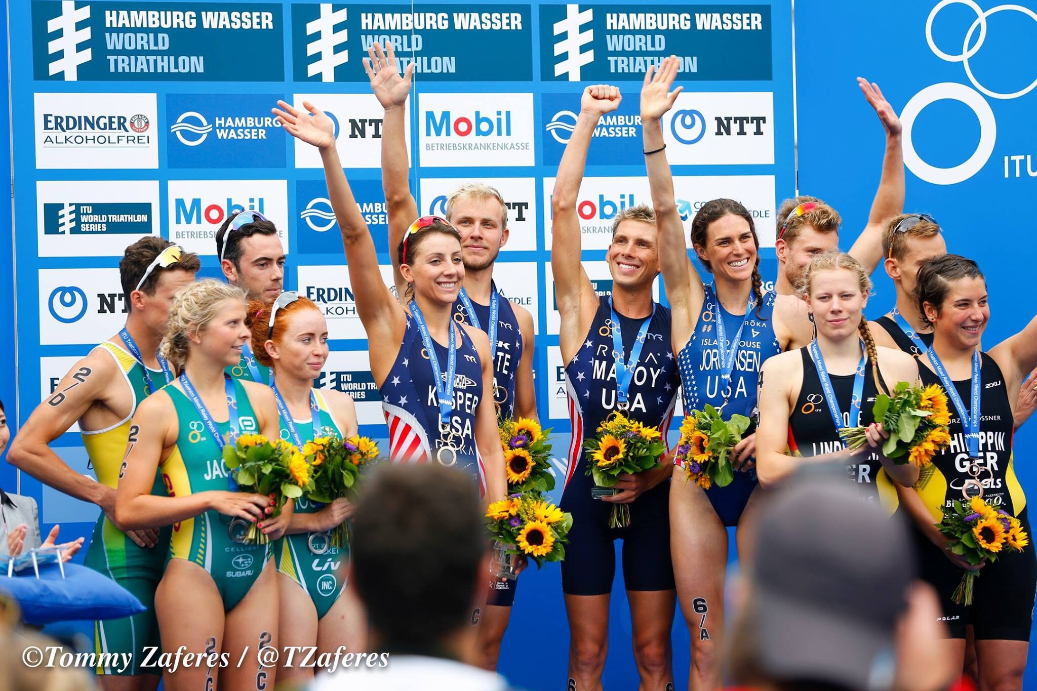 Mixed Team Relay World Champions. Photo credit: Tommy Zaferes