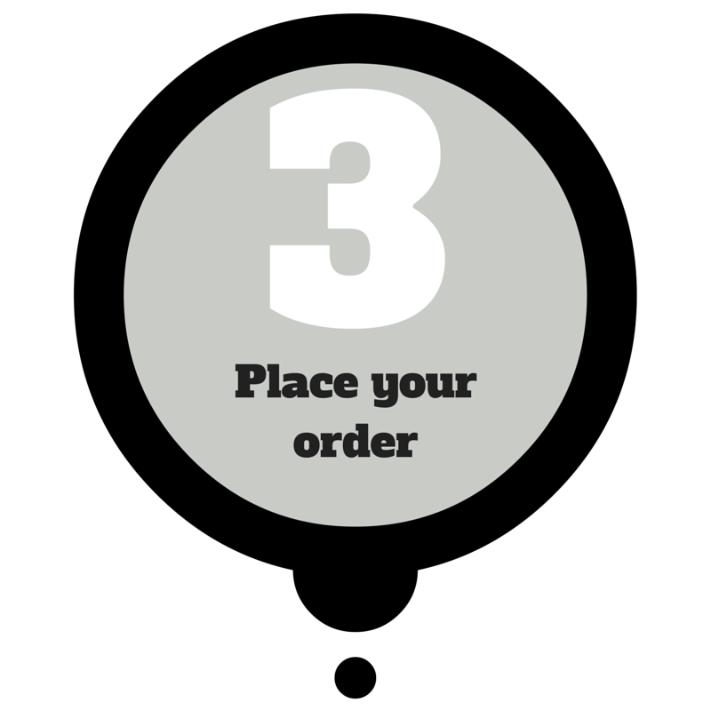 place your order - dream design