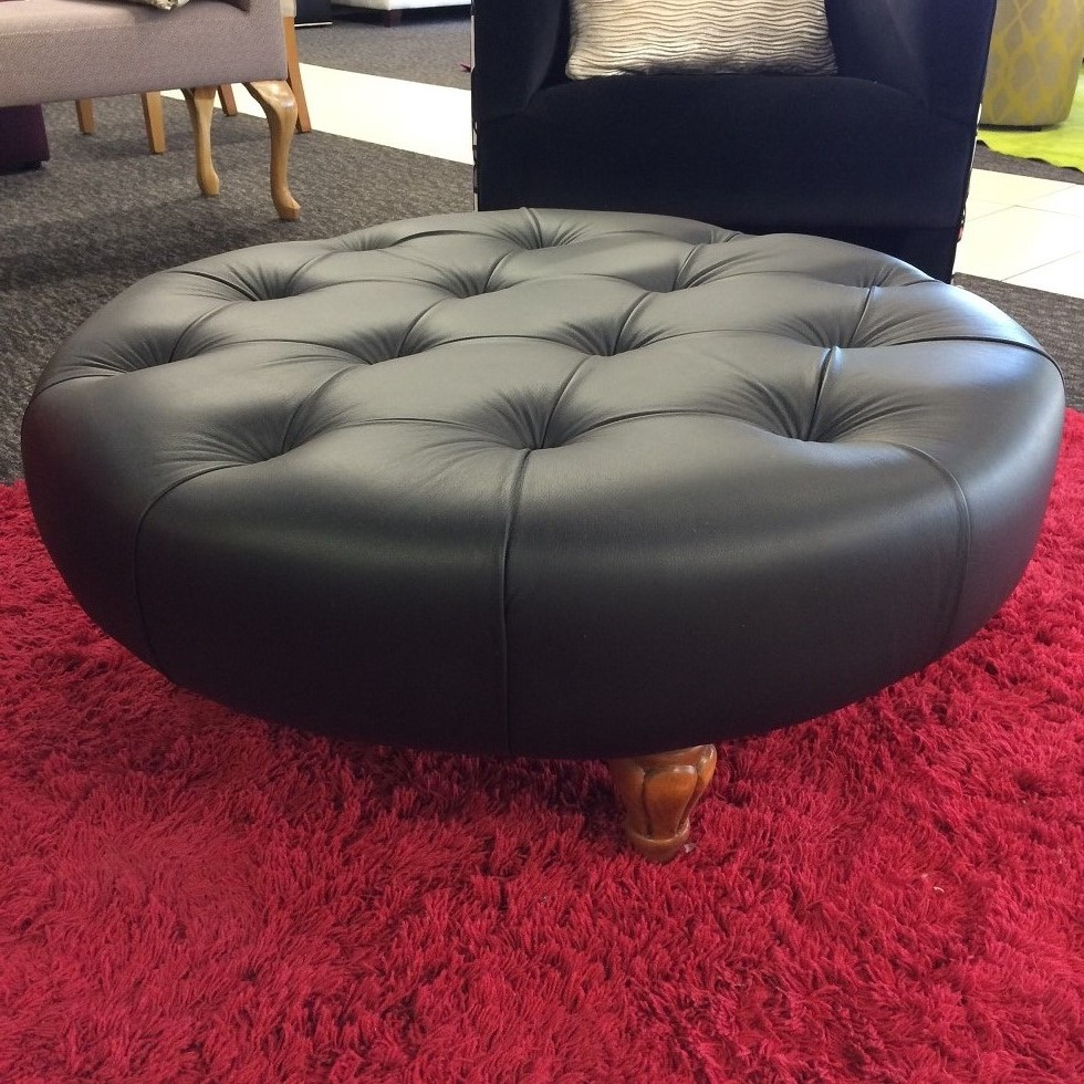 Round Button Ottoman