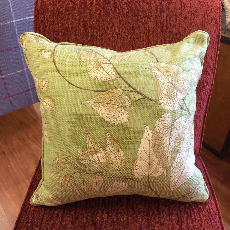 $135 (limited edition)  Size: Square Medium  Fabric: Atrium Green