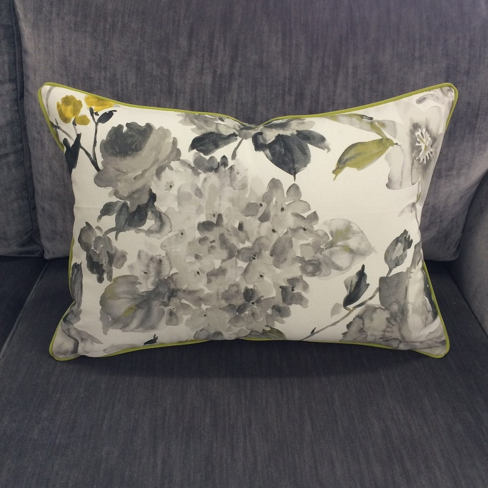$100 ea  Size: Rectangle Large  Fabric:Fleur Print Charcoal
