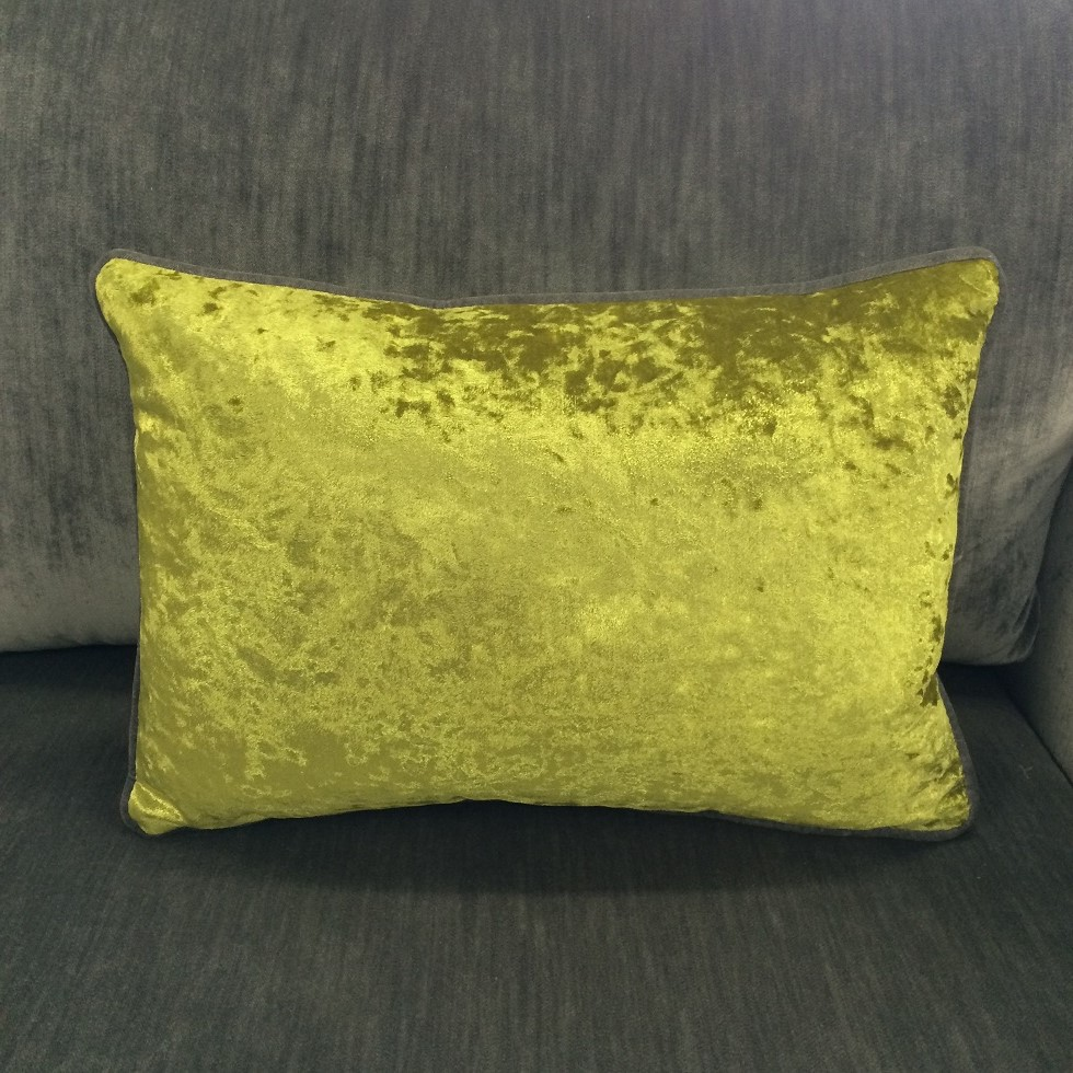 $85 ea  Size: Rectangle Small  Fabric:Aquavino Chartreuse