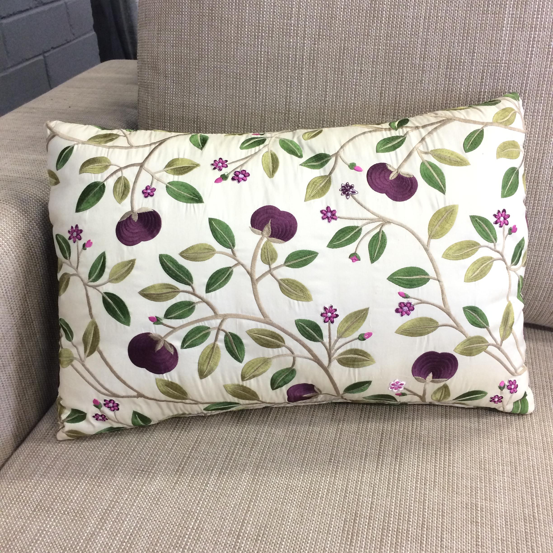 $325 ea  Size: Rectangle Small  Fabric:Medlar Silk Aubergine