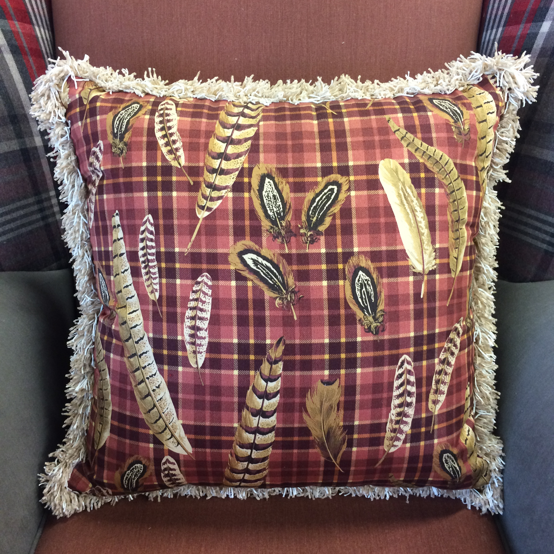 $108 ea  Size: Square Medium  Fabric: Quill Red