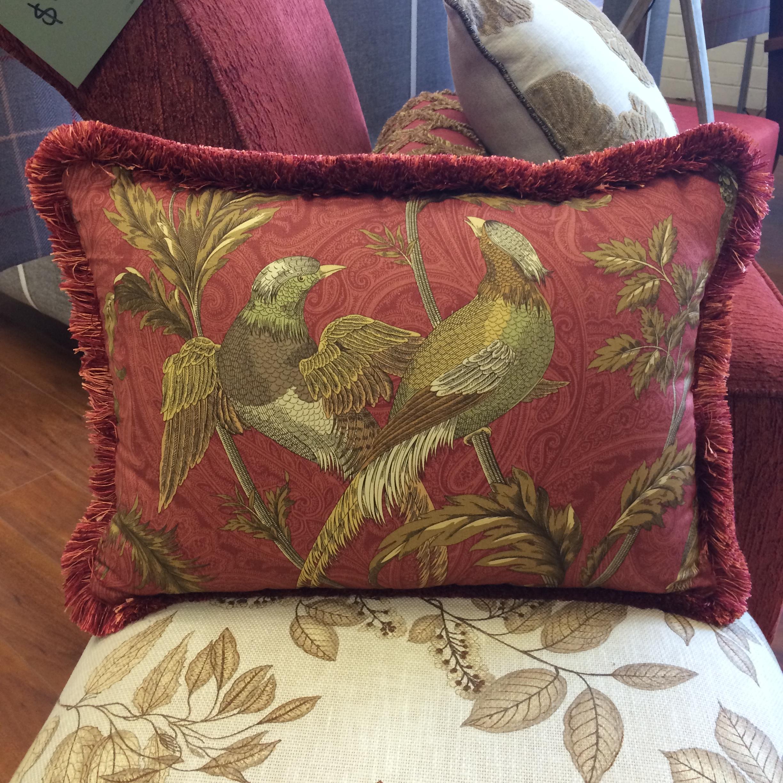 $118 ea  Size: Rectangle Large  Fabric: Sanctuary Red
