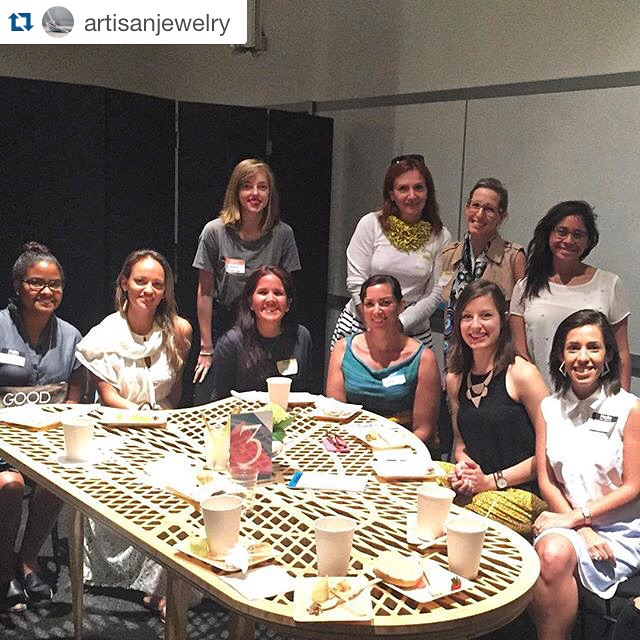Our group was table #3 - jewelry designers, graphic designers, illustrators, fabric and fashion designers, painters ... You name it ...