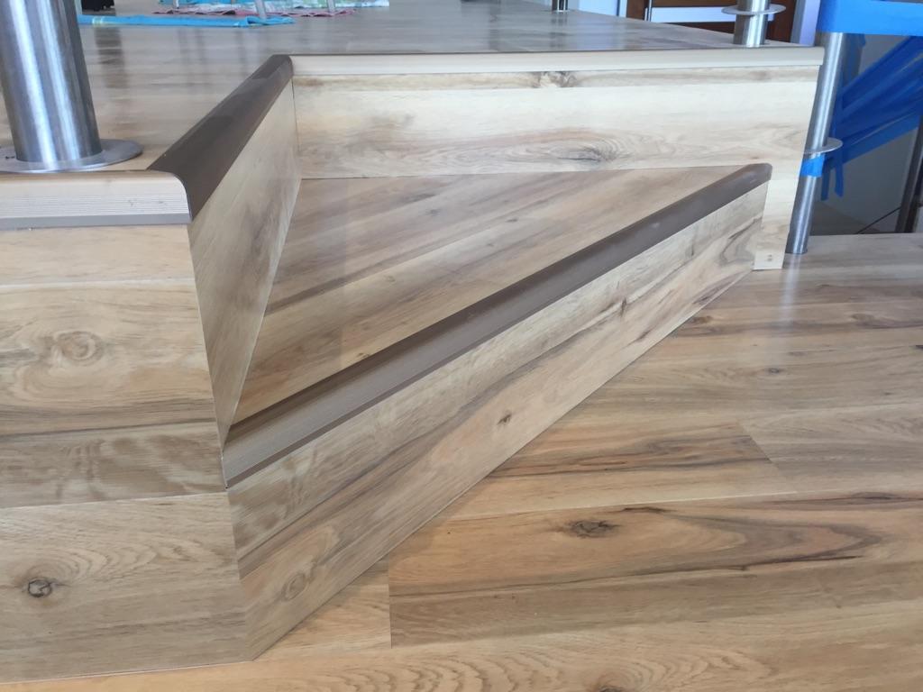 Stairs - tricky installation in European Oak.