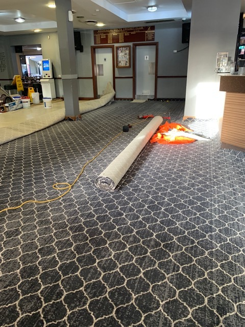 Installation of Brintons Carpet