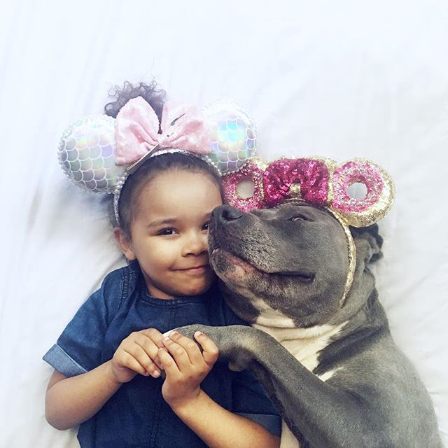 Pit bulls are a girl's best friend ☺️