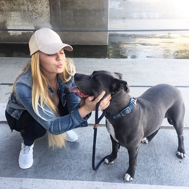 In honor of #NationalPetMonth Bentley and I took a walk in one of our favorite spots in the Los Angeles River Path. Of course we had to stop for some kisses! Life's better when you go together. Discover @Purina products at store.purina.com #sponsored