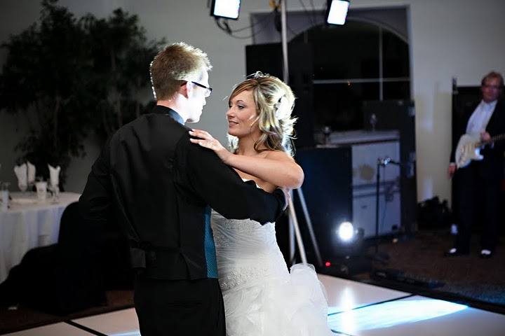 One of our couples dancing at their wedding!