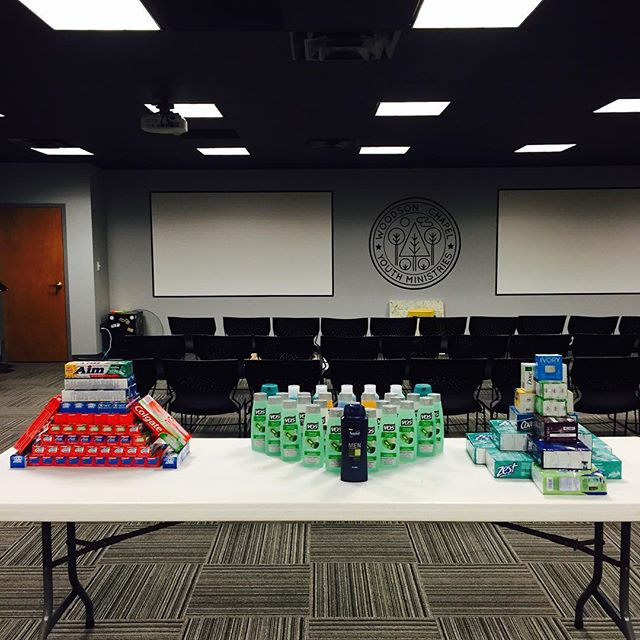 I love the heart that our Youth Group has for our family in Honduras! Just sent 120 bars of soap, 60 tubes of toothpaste and 30 bottles of shampoo! #WCYM52Lights