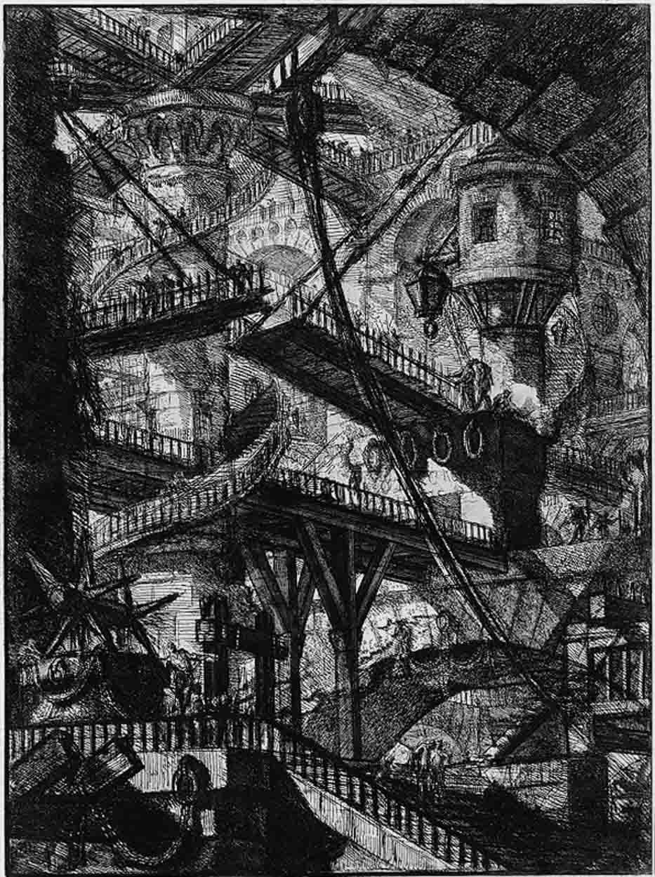 "Giovanni Battista Piranesi ""Carceri"" Plate VII"