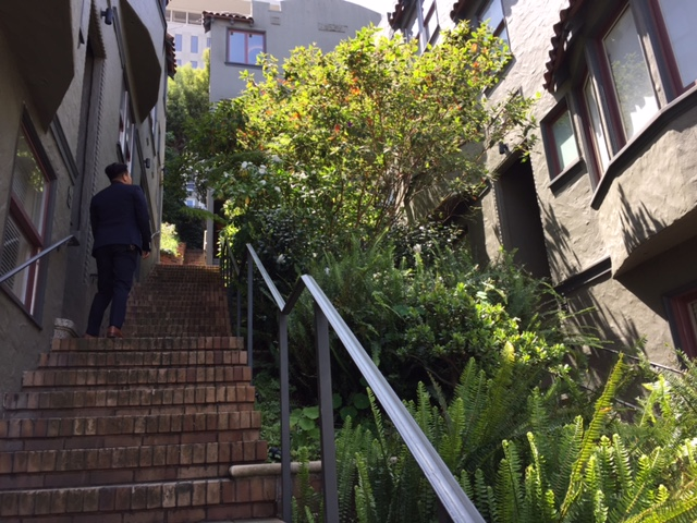 Our Listing Agent, Tony, took us up the stairway.