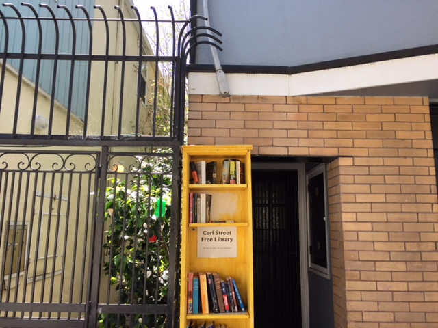 An adorable Free Library down the street. Gotta love Cole Valley!