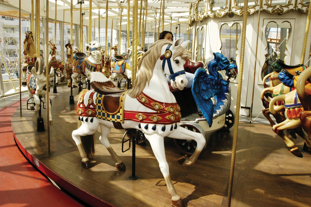 The Koret Children's Quarter in Golden Gate Park is a favorite with the under-10 set. It offers one of the best playgrounds in the city and an authentic 1914 Herschell-Spillman carousel.