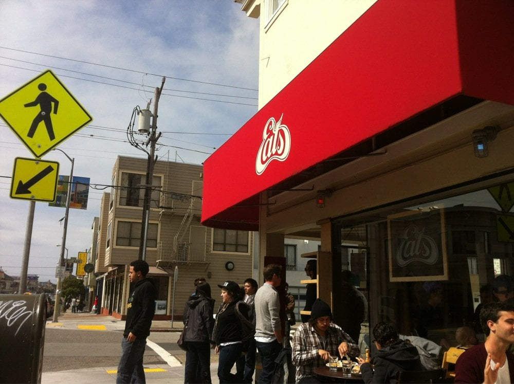 EATS is a popular brunch spot and especially busy on Sunday mornings during the Farmer's Market.