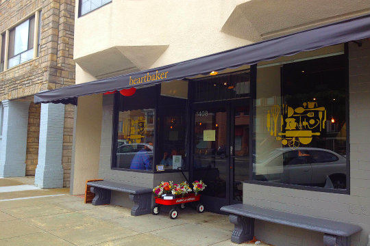 Heartbaker on Clement Street is an intimate spot for coffee, wine or a full meal.