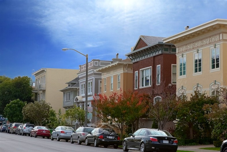 Several streets in Jordan Park boast large, detached homes with front porches and pretty landscaping.