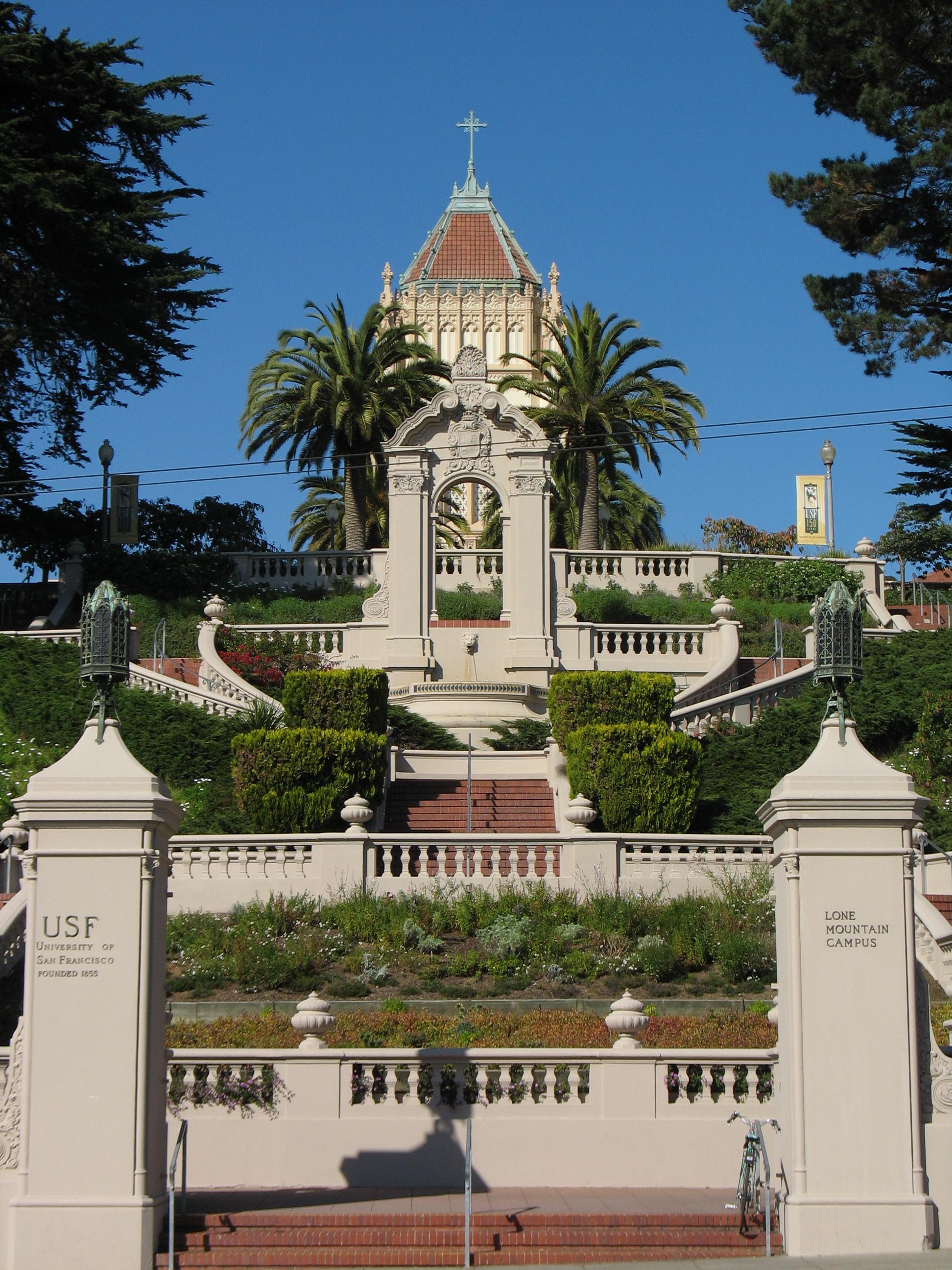 The Lone Mountain Campus of University of San Francisco, a Jesuit Catholic university.