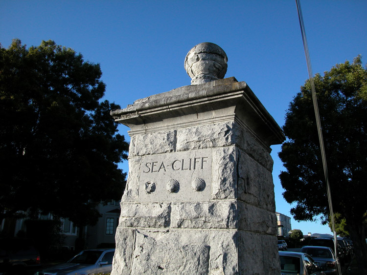 The Sea Cliff Gate at 30th Avenue and California Street.