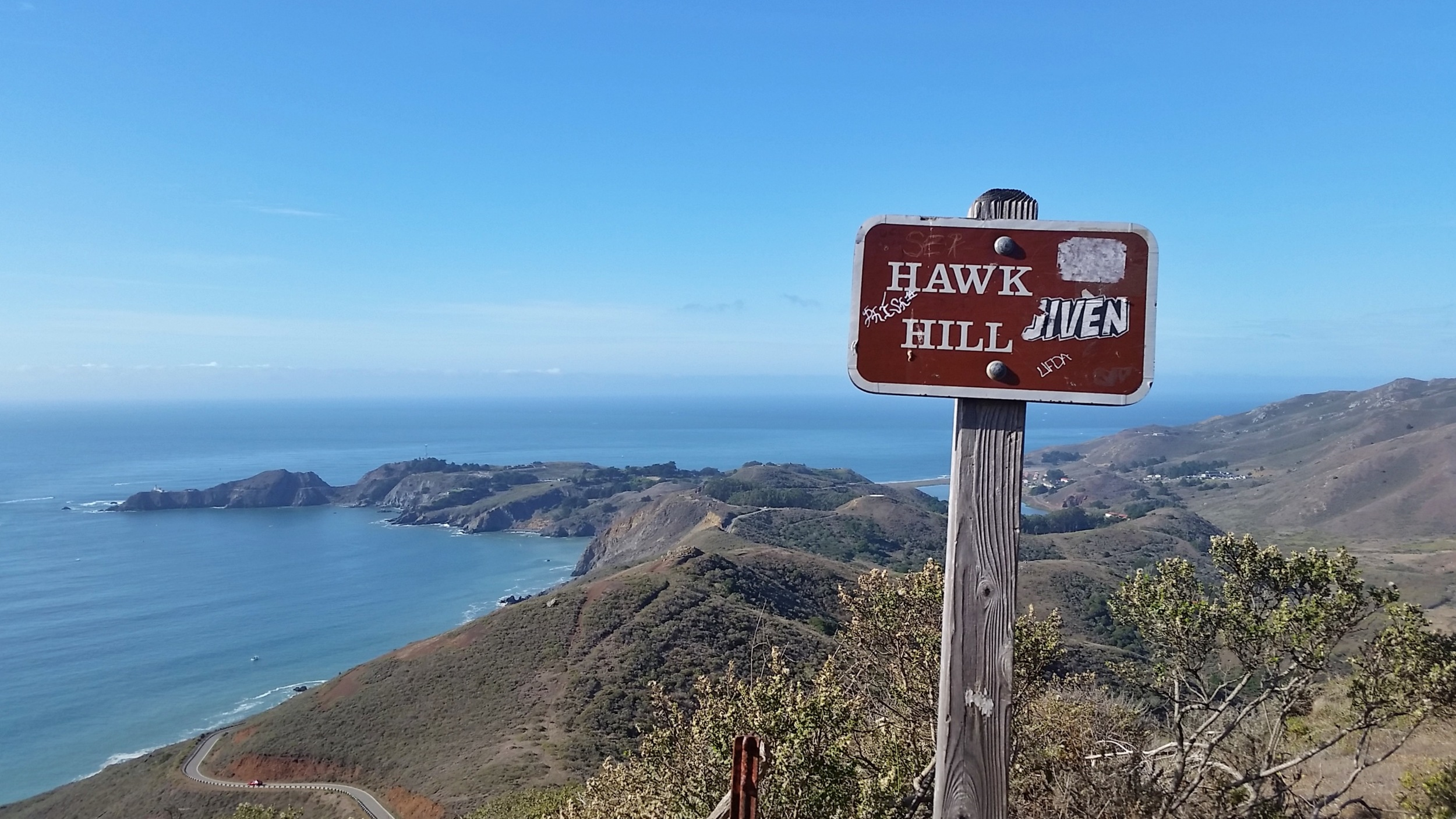 Hawk Hill Park in Golden Gate Heights features a sandy hidden trail with great views to the south.