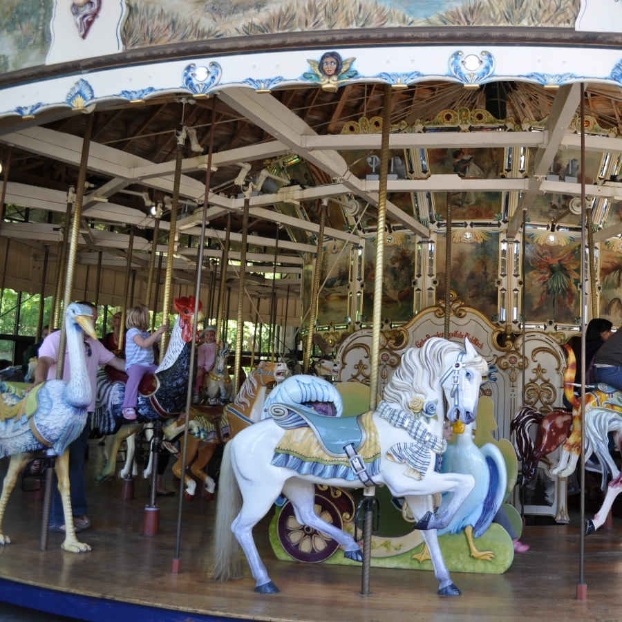 Families flock to Koret Children's Corner in Golden Gate Park, which features a climbing wall, rope-climbing structure, concrete slide and authentic turn-of-the-century Herschel-Spillman carousel.