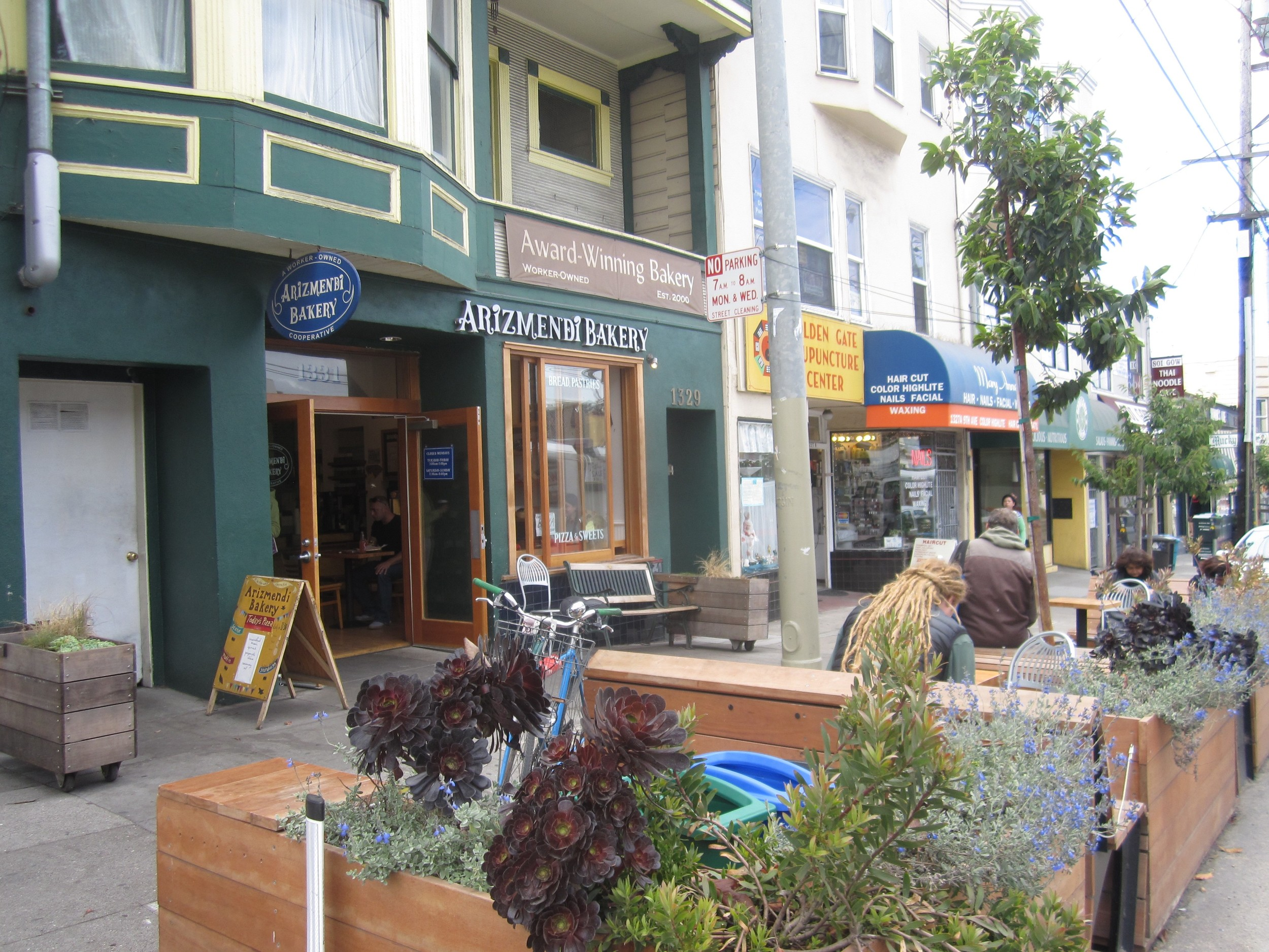 Lines form early in the morning for the mouth-watering pastries and breads baked daily at Arizmendi Bakery Cooperative on 9th Avenue.