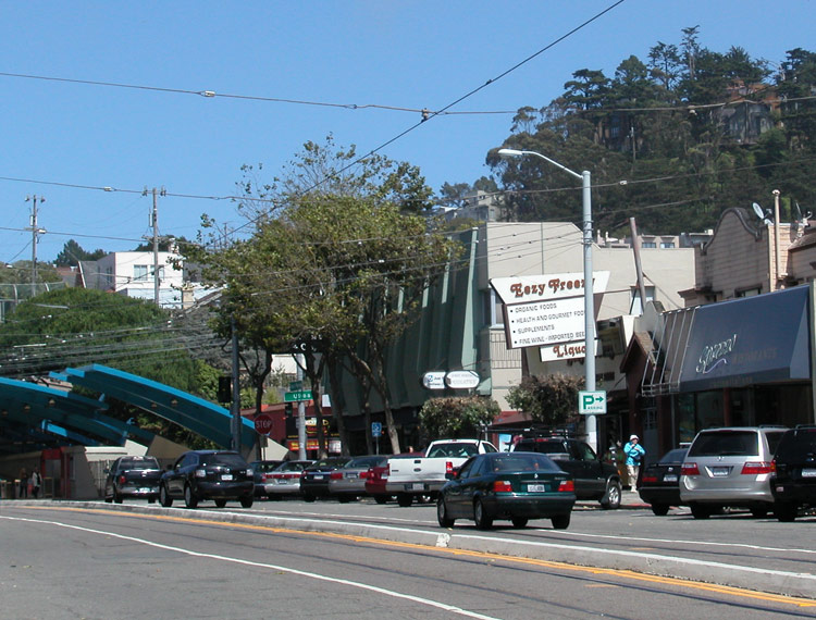 The commercial area along West Portal Avenue is lined with superb restaurants, coffee shops and specialty stores.