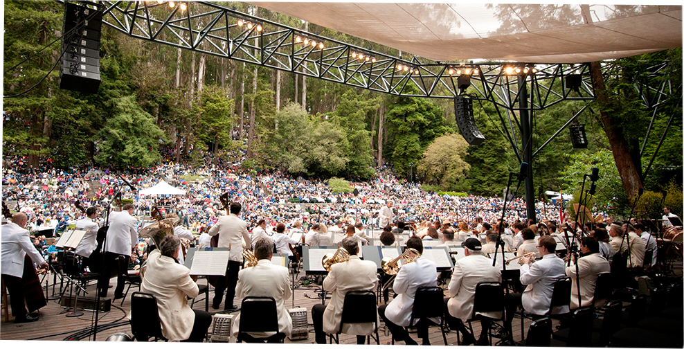 Sigmund Stern Recreation Grove, home of the free summer concert series Stern Grove Festival, boasts a sophisticated amphitheater surrounded by 33 miles of lush greenery