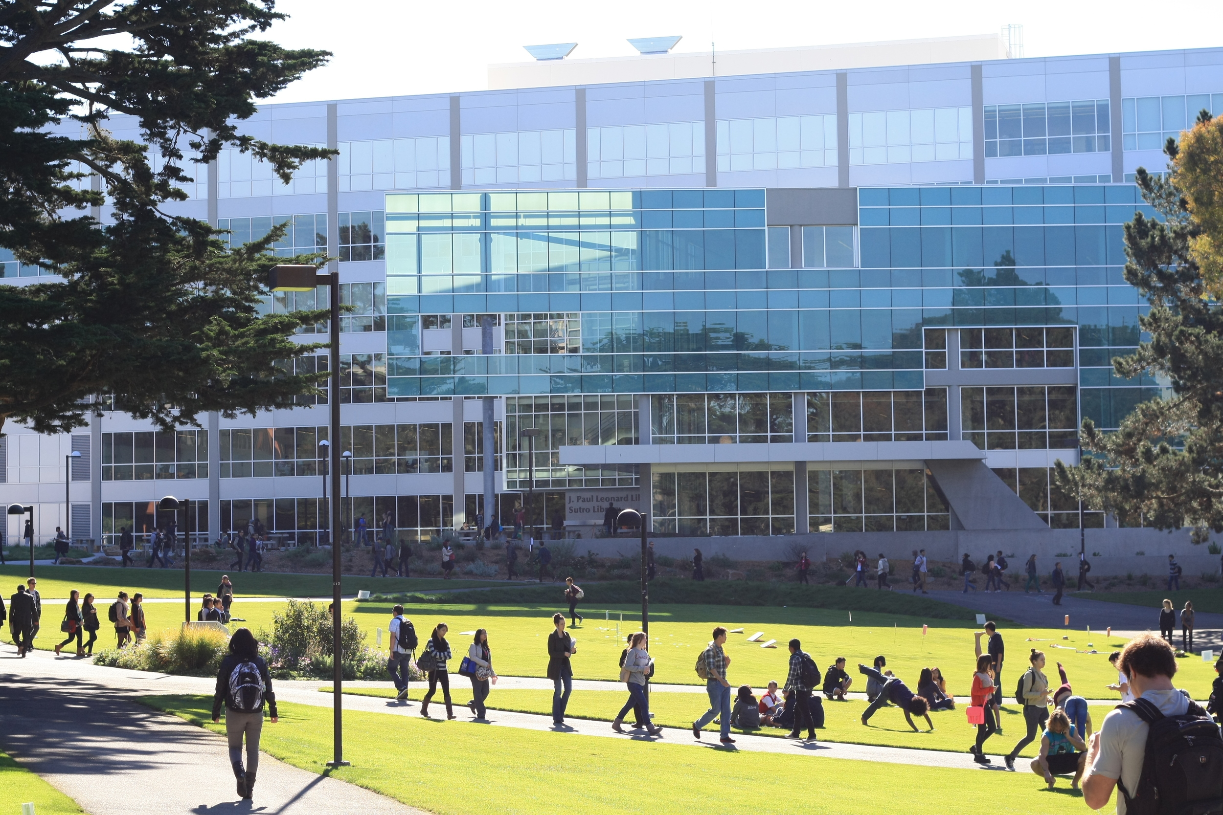 During the academic year, the blocks around San Francisco State University's campus are lively with students walking to and from classes.