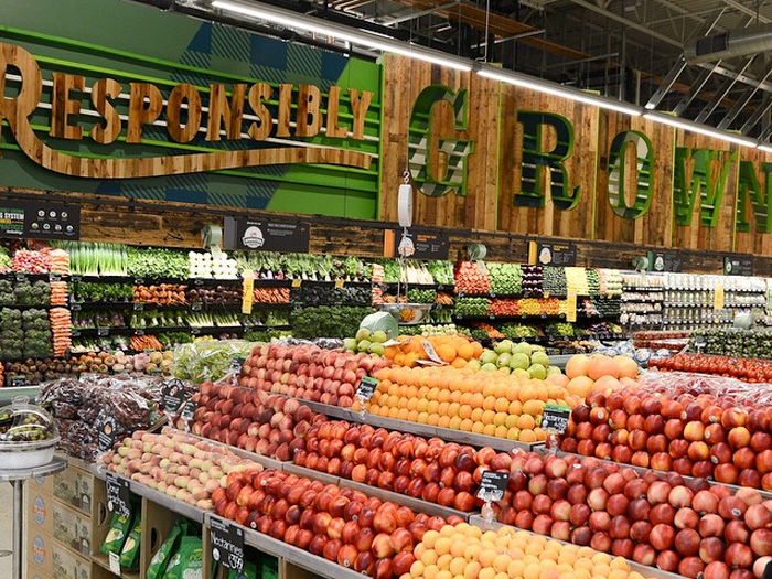Whole Foods on Ocean Avenue is a popular destination for fresh organic food and features a dine-in area.