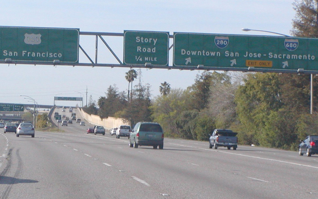The 280 freeway provides easy access to Silicon Valley.