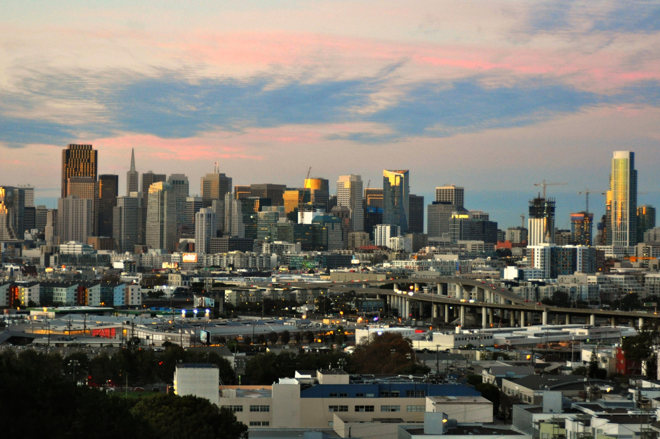 There's a magical quality to the panoramic vistas seen from atop Potrero Hill.