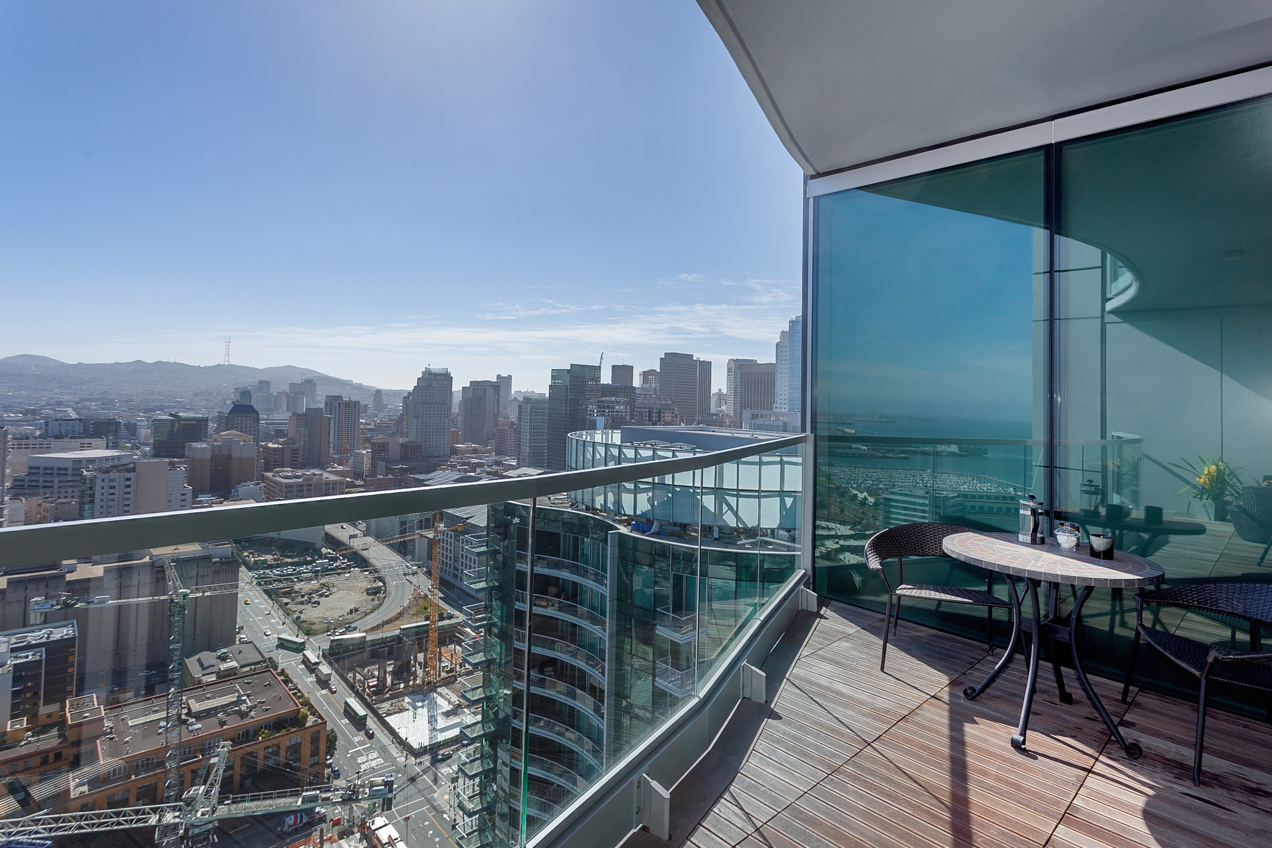 Sleek condominiums, many with balconies boasting great views, have sprouted up along the waterfront.