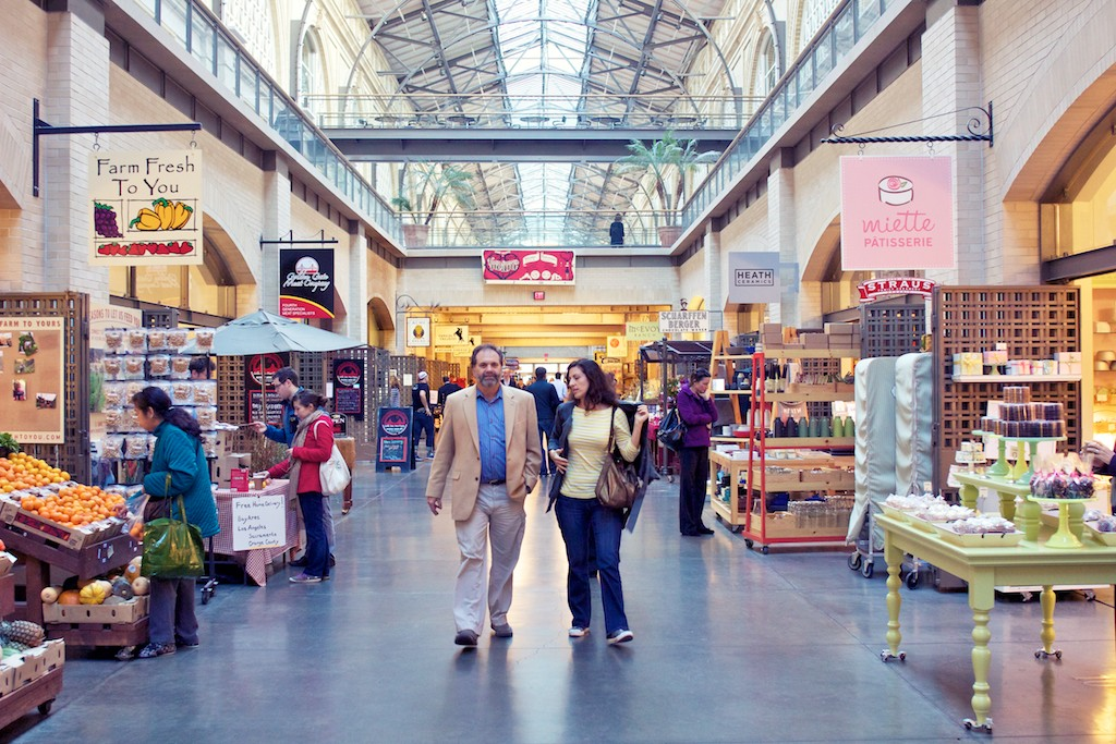 A short walk away is the Ferry Building Marketplace, which is filled with specialty shops and restaurants and hosts a beloved farmers market.