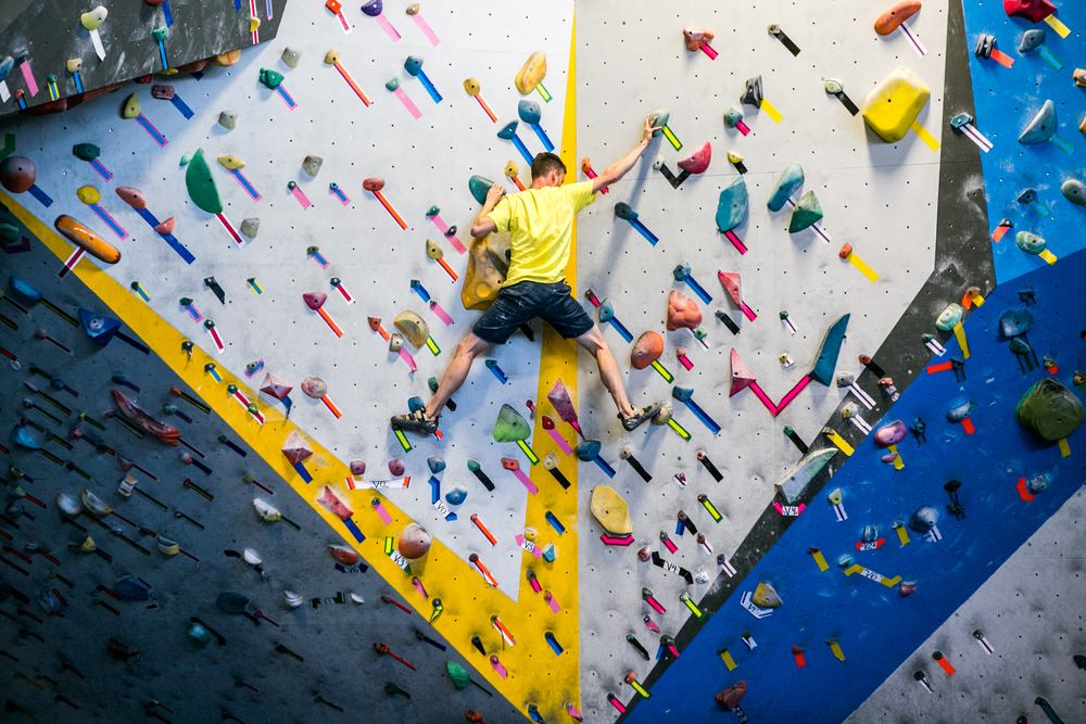 Dogpatch Boulders is an indoor climbing center that offers a fun way to stay in shape.