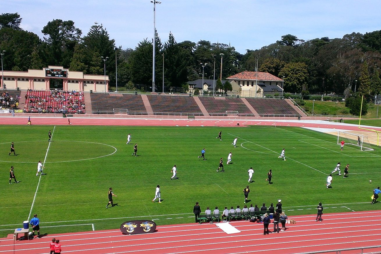 """Kezar Stadium hosts amateur and recreation sports leagues, as well as numerous San Francisco high school football games, including the """"Turkey Bowl"""" city championship."""