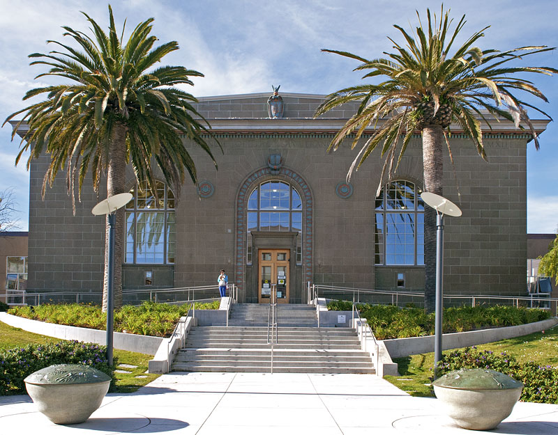 The Richmond branch of the San Francisco Public Library, still looking good after its 2009 renovation, boasts a small playground and a wide assortment of foreign-language books and DVDs.