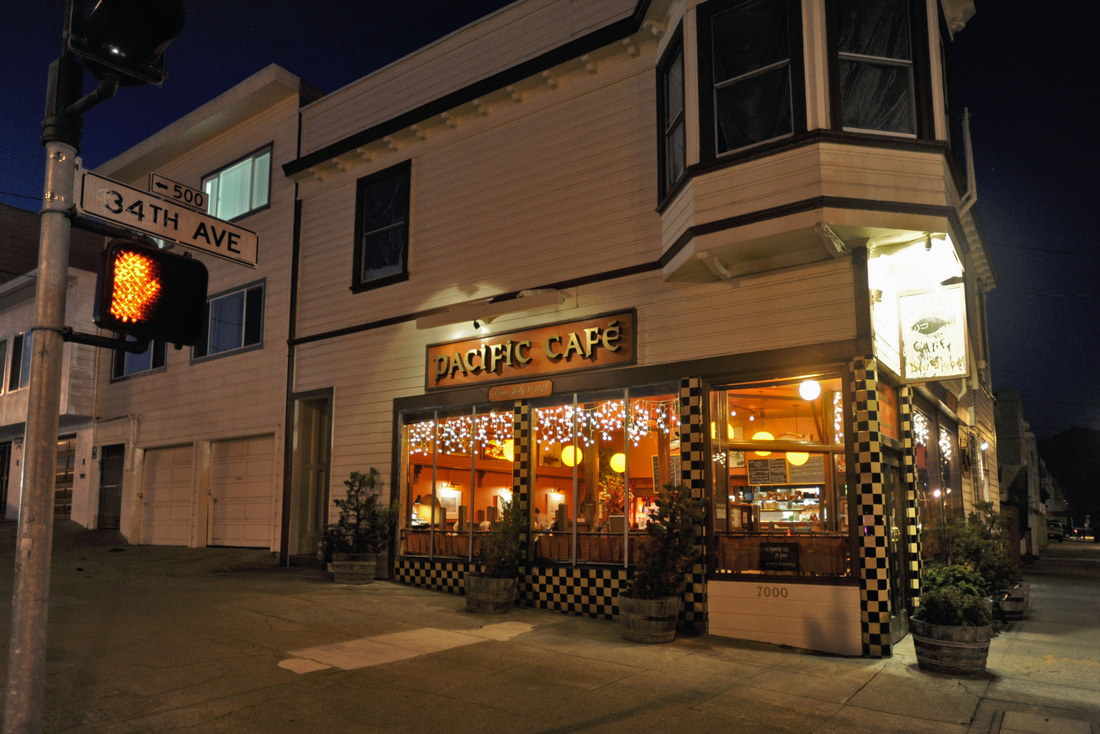Offering freshly caught seafood and free wine while customers wait for a table, Pacific Café on Geary is a neighborhood institution.