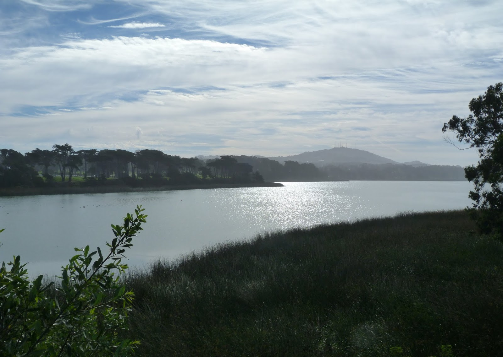 Lake Merced Park is a 614-acre area with a 4.5-mile recreational trail encircling a freshwater lake, popular for fishing, boating, jogging and biking.