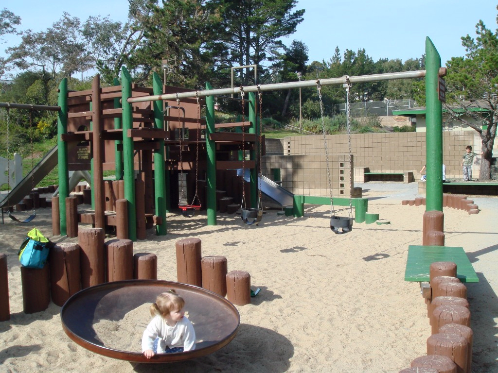 George Christopher Playground is home to a popular playground as well as several sports fields.