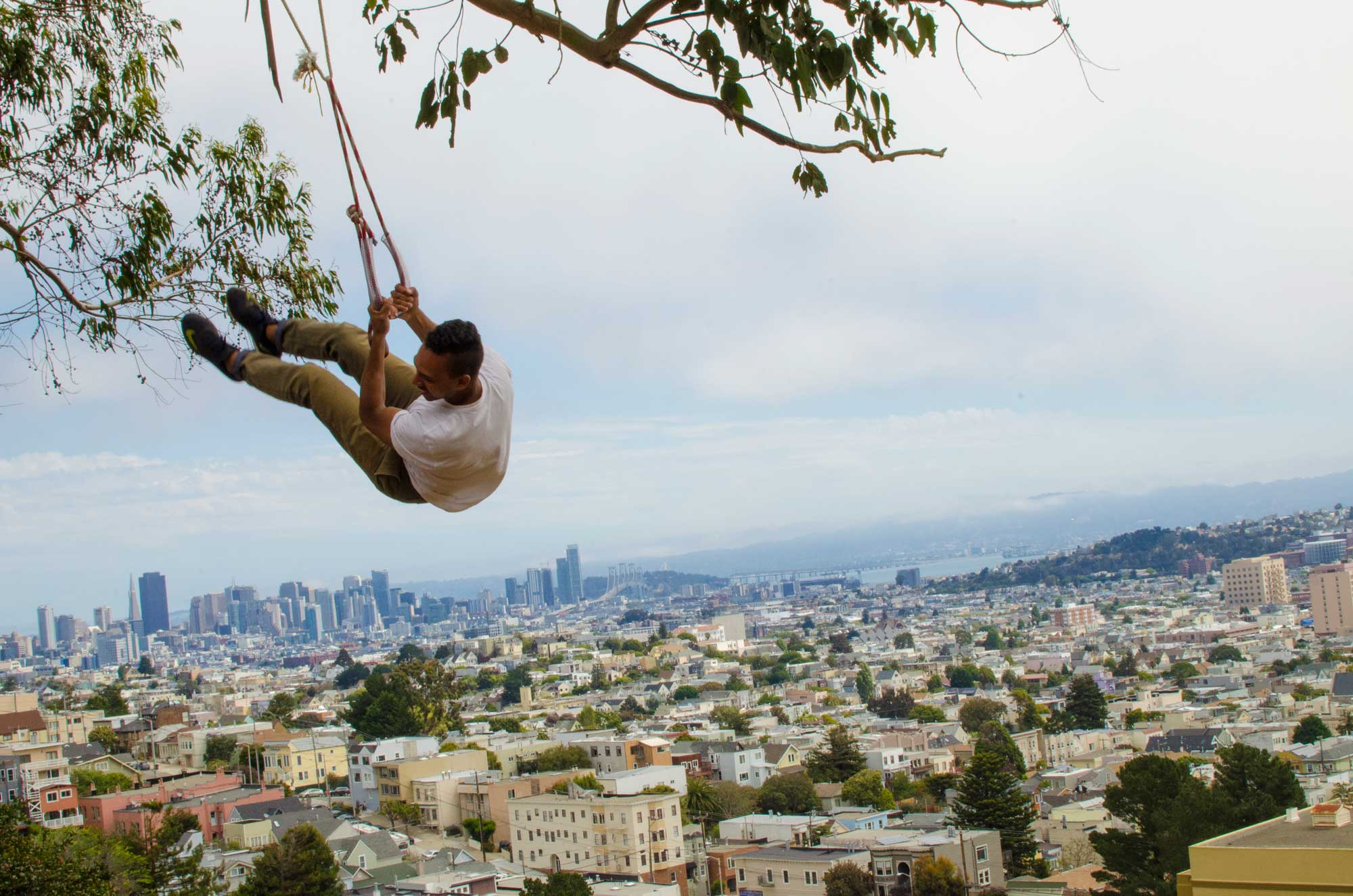 Billy Goat Hill Park features hiking trails and amazing views of the city and bay.