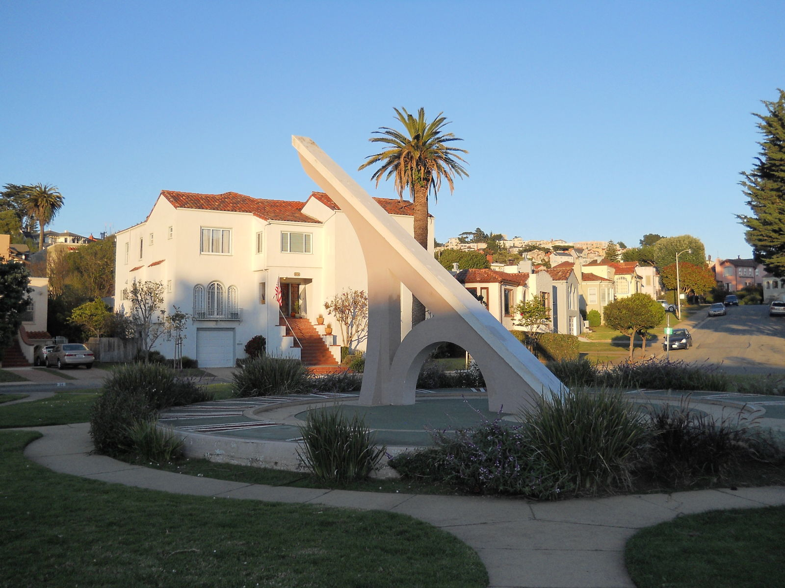 The sundial at Ingleside Terraces was built in 1913 to lure prospective buyers to newly built homes in the neighborhood.