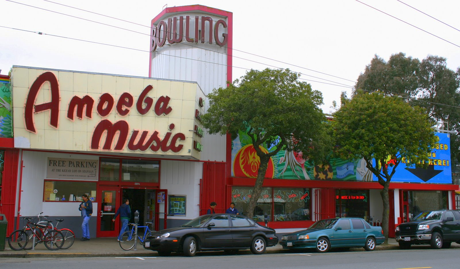 Housed in a former bowling alley, Amoeba Music boasts one of the world's biggest collections of new and used CDs.