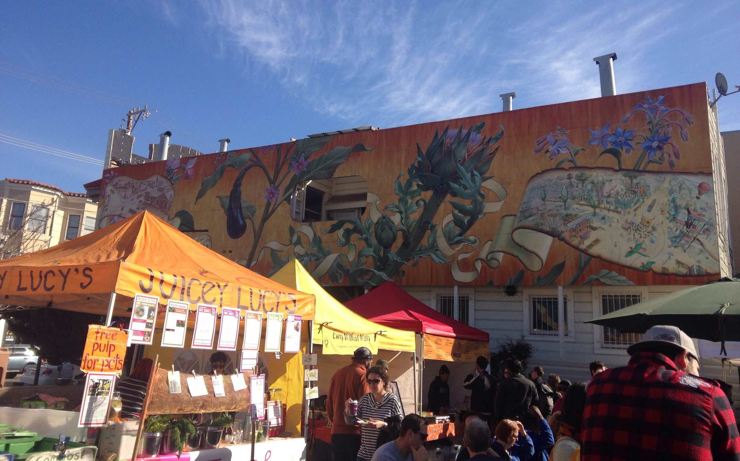 Residents gather at the Noe Valley Farmer's Market every Saturday morning.